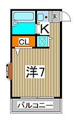 ジョイフル蕨[2階]の間取り