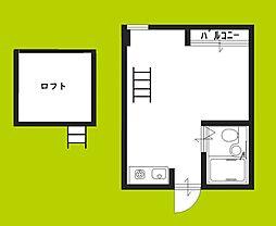 池島SAマンション 3階1Kの間取り