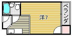 大阪府吹田市泉町5丁目の賃貸マンションの間取り