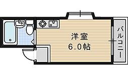 グロー駒川中野[413号室]の間取り