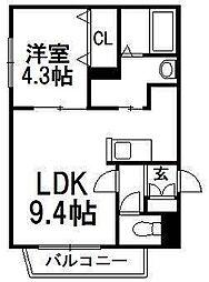 北海道札幌市西区琴似四条3の賃貸マンションの間取り