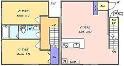 東急目黒線 武蔵小山駅 徒歩6分の賃貸マンション 地下1階2LDKの間取り