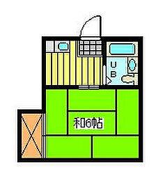 コーポ坪井[2階]の間取り