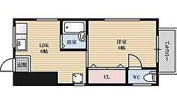 堂島マンション[1階]の間取り