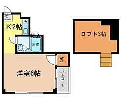 エスタシオン二軒屋[305号室]の間取り