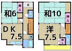 [一戸建] 東京都足立区日ノ出町 の賃貸【/】の間取り