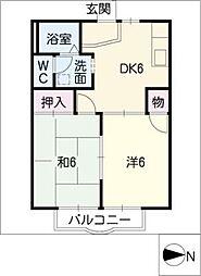 ポートタウンA・B[2階]の間取り