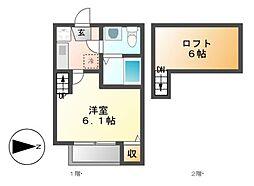 STAGE柴田[2階]の間取り