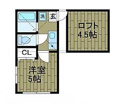 アネックス東林間[1階]の間取り