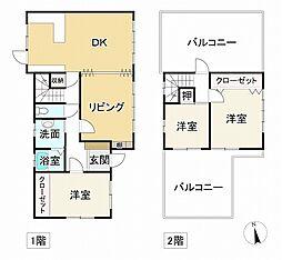 JR東海道・山陽本線 朝霧駅 徒歩17分 3LDKの間取り