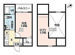 Endor鳴海[1階]の間取り