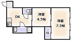 パールハイツ[5階]の間取り