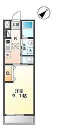 袖ケ浦市代宿97番5他新築アパート[102号室]の間取り