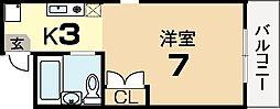 グレセントYYUII[4階]の間取り