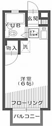 クレスト新宿[102号室]の間取り