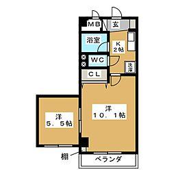 コンチェルトハウス[2階]の間取り