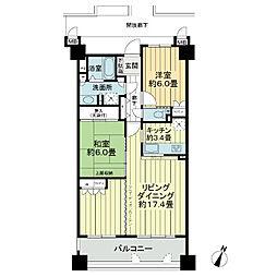 サーパス兵庫第2[6階]の間取り