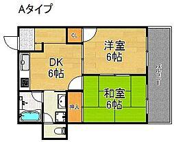 ハイツ田村[2階]の間取り