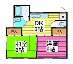 和伸ハイツ前川3丁目 II[2階]の間取り