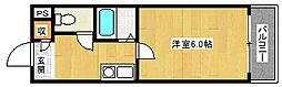 パークサイド八幡[2階]の間取り