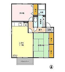 レフィナード・セン[1階]の間取り