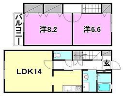[テラスハウス] 愛媛県松山市空港通6丁目 の賃貸【/】の間取り