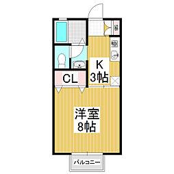 セジュールイワモト[2階]の間取り