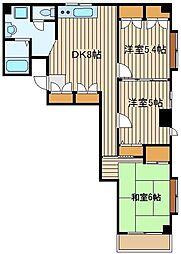 パレスフォンテーン[4階]の間取り