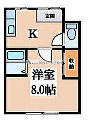 鶴橋ハイツ[2階]の間取り