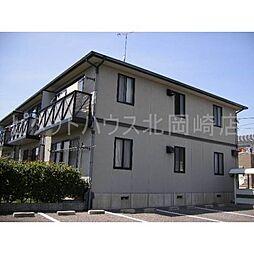 愛知県岡崎市下和田町字尾之越の賃貸アパートの外観