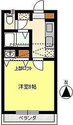 今泉コーポ[2階]の間取り