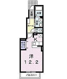 コスモスサンライトB[1階]の間取り
