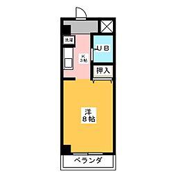 ノーサレンダー[3階]の間取り