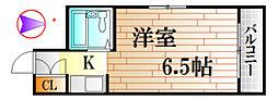 広島県広島市中区十日市町1丁目の賃貸マンションの間取り