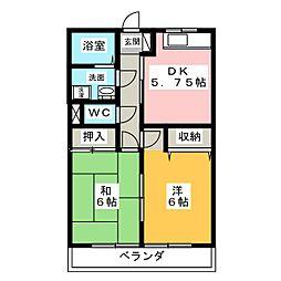 マンションLIVE[2階]の間取り