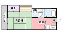 榊原コーポ[203号室]の間取り