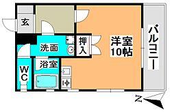 愛知県名古屋市昭和区塩付通6丁目の賃貸アパートの間取り