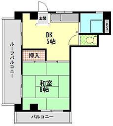 ダイヤマンション[5階]の間取り