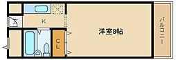 大阪府富田林市喜志新家町2丁目の賃貸マンションの間取り