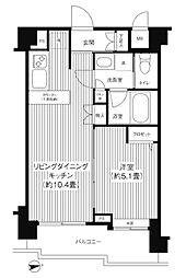 シャンドール目黒[6階]の間取り