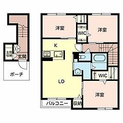 (仮称)シャーメゾン東大阪市日下町PJ[202号室]の間取り