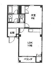 アルファ武庫之荘[102号室]の間取り