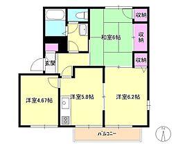 [テラスハウス] 東京都八王子市裏高尾町 の賃貸【/】の間取り
