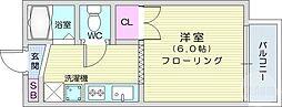 仙台市営南北線 長町南駅 徒歩31分の賃貸アパート 1階1Kの間取り