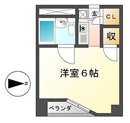 ベルモア堀詰[5階]の間取り
