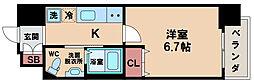 Marks西田辺 8階1Kの間取り