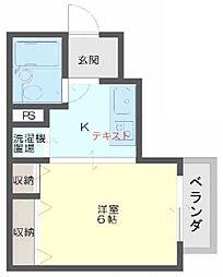 ロイヤル姫島[405号室]の間取り