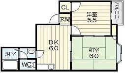 ゴールドマンションII[2階]の間取り