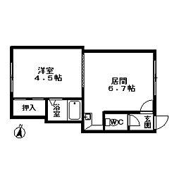 北海道札幌市豊平区中の島二条5丁目の賃貸アパートの間取り