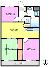 パークサイドオオタキ[2階]の間取り